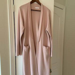 Oak & Fort Long Cardigan Pale Pink